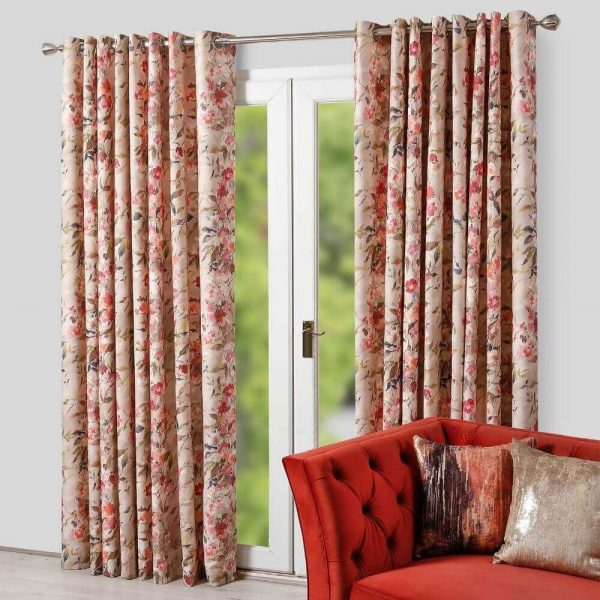 Eve Rose Eyelet readymade Curtain