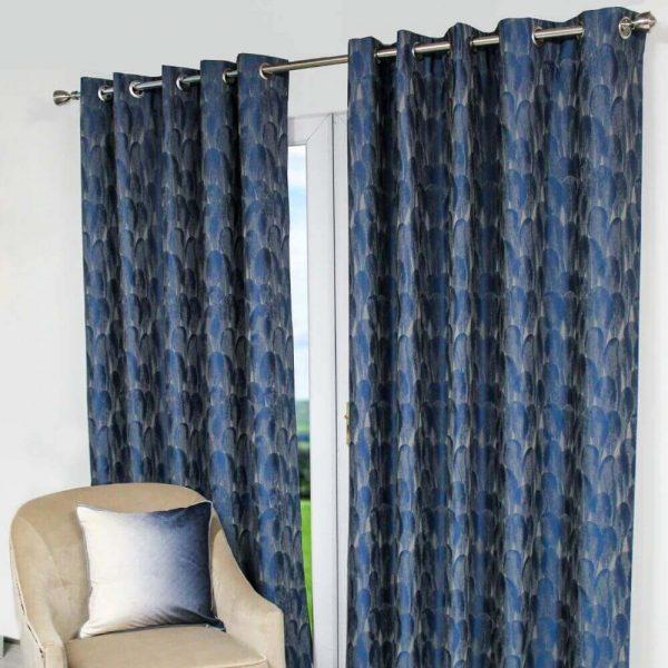 Ogi Ready Made Curtains - Blue