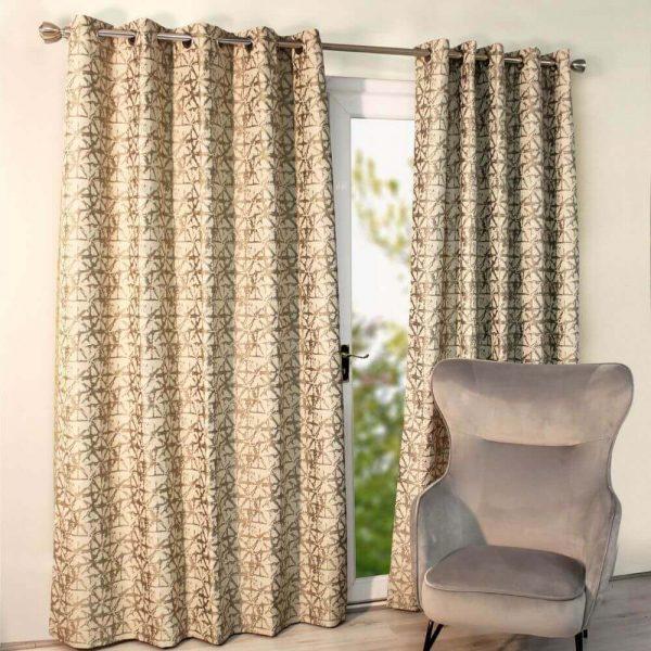 Sigma Ready Made Curtains - Grey
