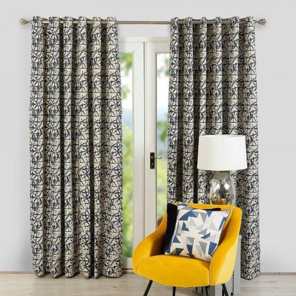 Sigma Ready Made Curtains - Navy