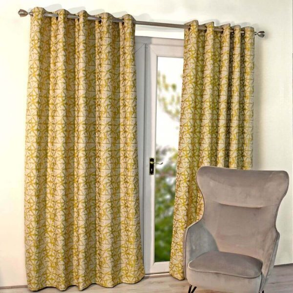Sigma Ready Made Curtains - Yellow